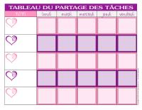 Tableau des tâches-La Saint-Valentin-1