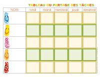 Tableau des tâches-l'été-1