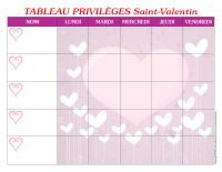 Tableau privilèges-La Saint-Valentin-1