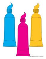 Tubes de dentifrice en couleurs