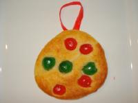 Une boule de Noël à manger