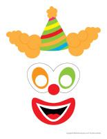 Visage de clown