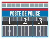 Voitures de police numérotées