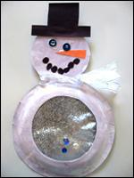 boule neigeuse bonhomme de neige bricolage pour enfants. Black Bedroom Furniture Sets. Home Design Ideas