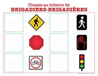 chasse au trésor de brigadiers-brigadières