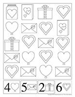 cherche et trouve à colorier-Saint-Valentin
