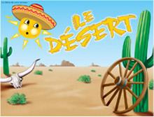 Affiche thématique - Le désert