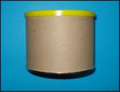 Retirez l'étiquette et peinturez le contenant avec la gouache noire.