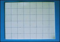 Mesurez des carrés de 1½ po.