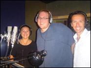 Les trois interprètes de gauche à droite ; Nathaly Charrette (Pegui), Constant Bernard (Poni) et Marc-André Charrette (Peli).
