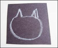 Pendant ce temps, dessinez une tête de chauve-souris pour chaque enfant.