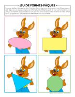 jeu de formes-Pâques