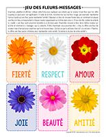 jeu des fleurs-messages