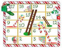 jeu serpents et échelles Noël