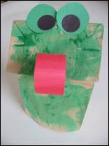 Grenouille sac en papier