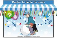 kiosque - Rouler la boule de neige