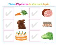 liste d'épicerie de Jeannot lapin-1