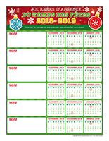 liste des absences temps des fêtes 2018-2019-6 enfants