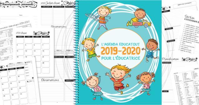 Calendrier Ludique A Imprimer 2020.L Agenda Educatout 2019 2020 Educatout