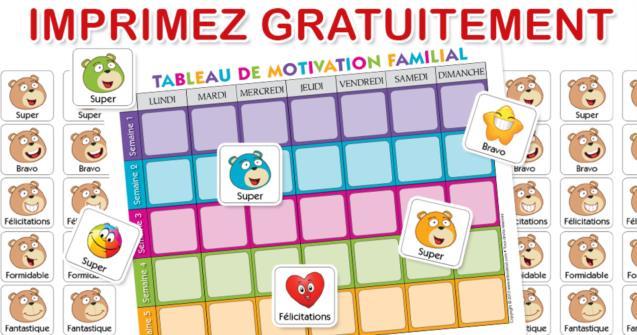Le Tableau De Motivation Familial Educatout