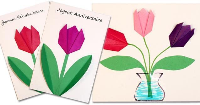 Tulipes En Origami Educatout