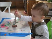 3. Peinturez les morceaux.