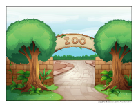 scène au zoo