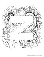 xMandalas-Lettre Z